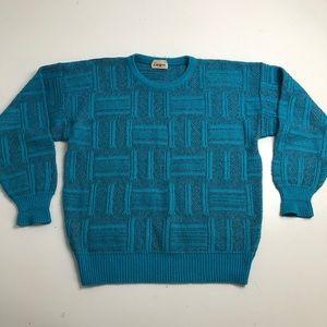 Vintage Ingo Crewneck Sweater Mens Blue Medium